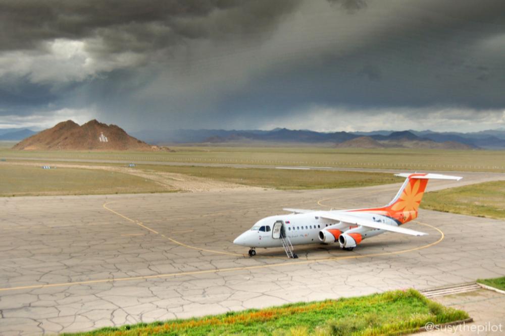 Turnaround Khovd Airport, Mongolia