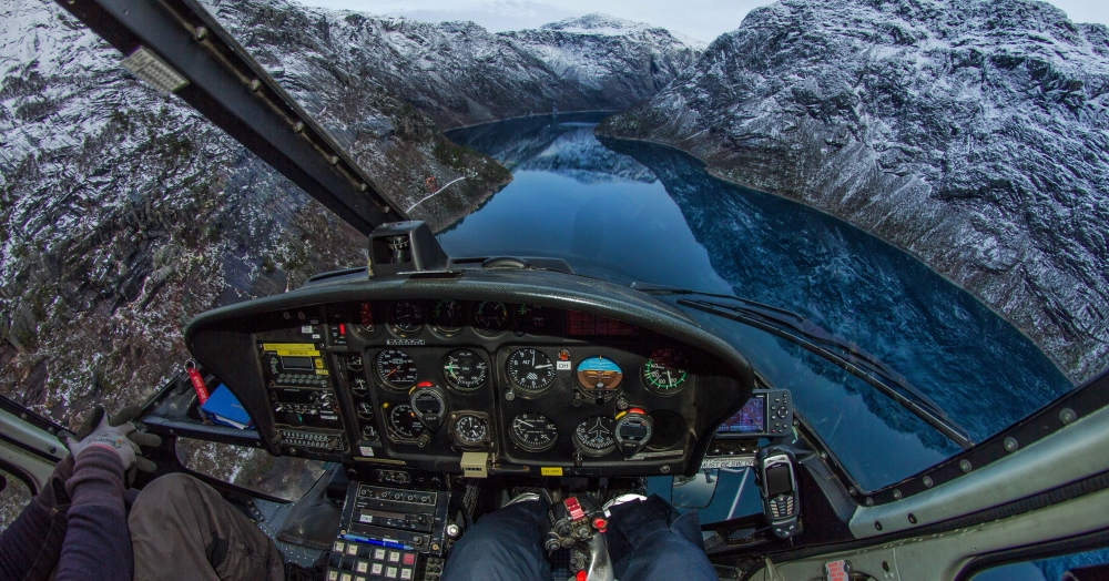 12. Climbing out over Ringedalsvatnet. This is the lake that is overlooked by the popular tourist spot, Trolltunga.