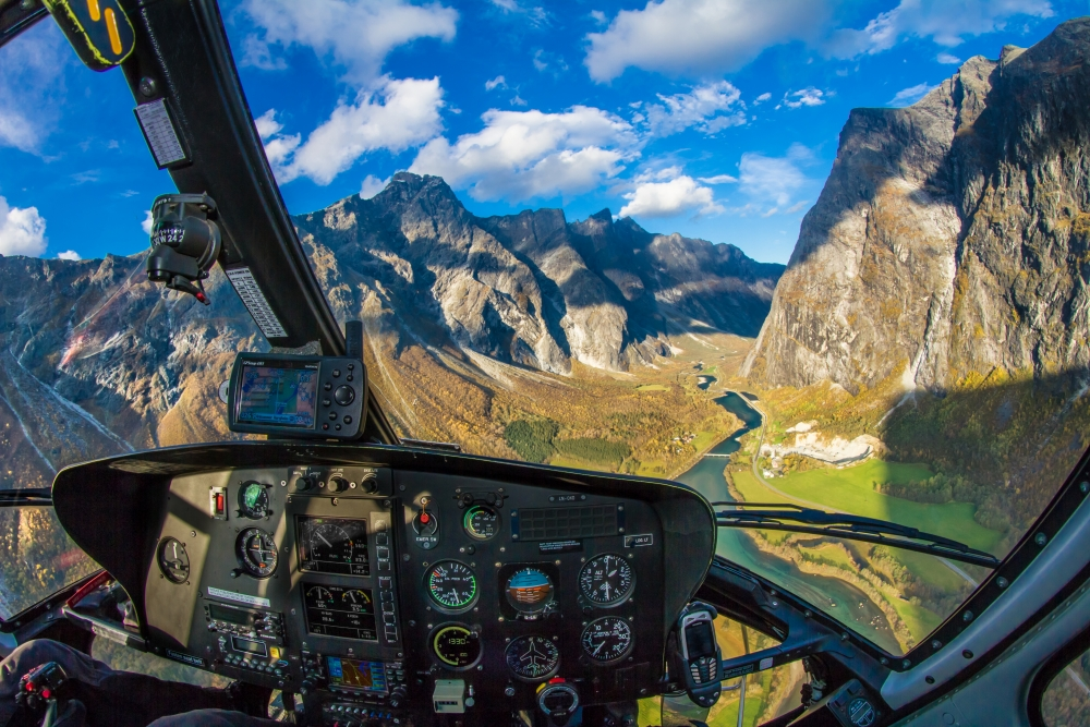 15. Descending into Romsdalen where we lifted up a radar that will give an early warning if there is a rock-slide.