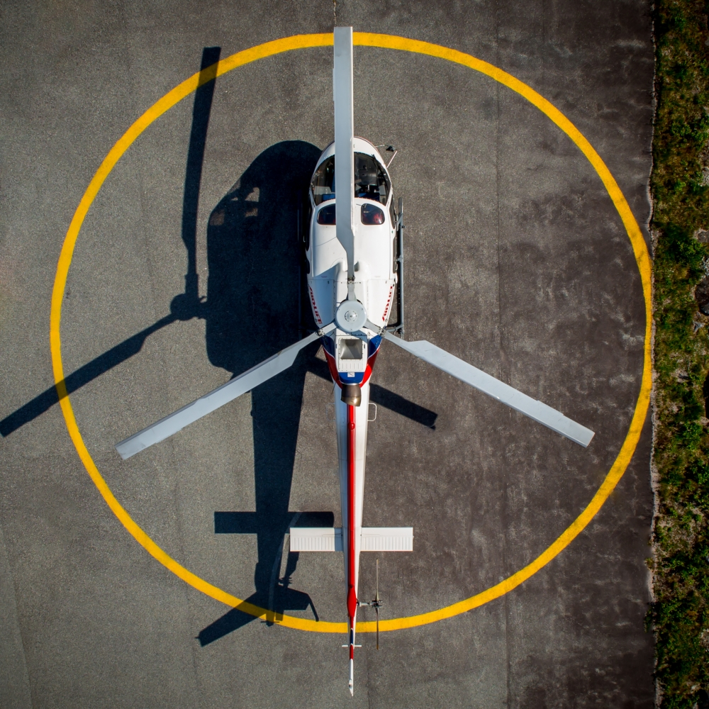 2. The AS350 ready for start-up.