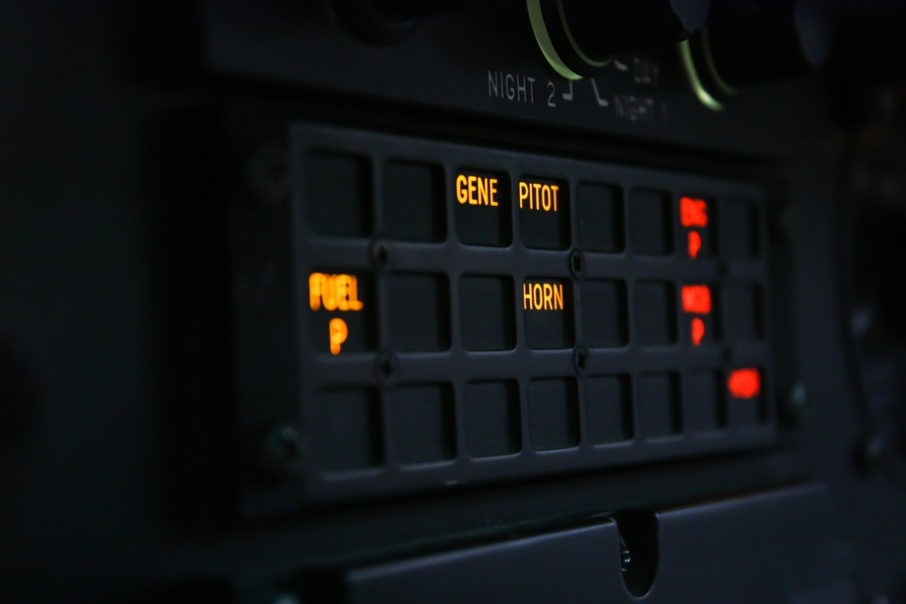 4. The caution warning panel of the AS350