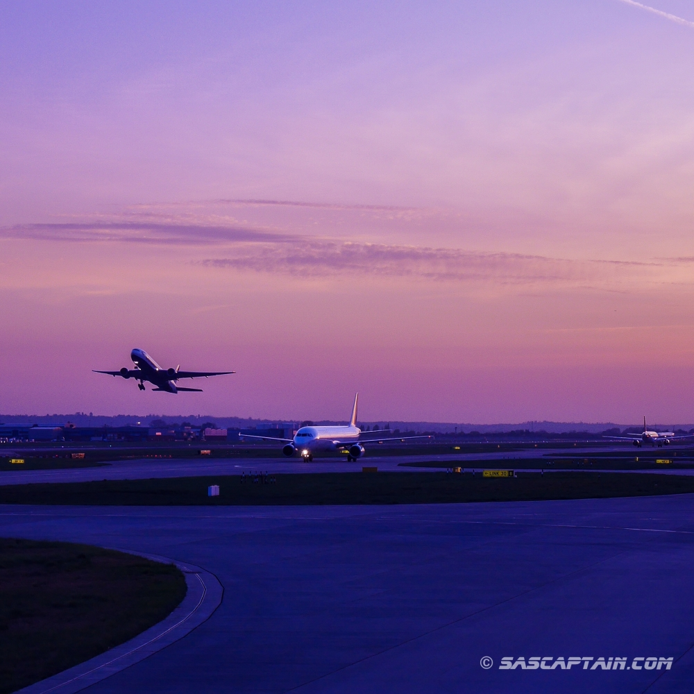 Beautiful evening light at LHR