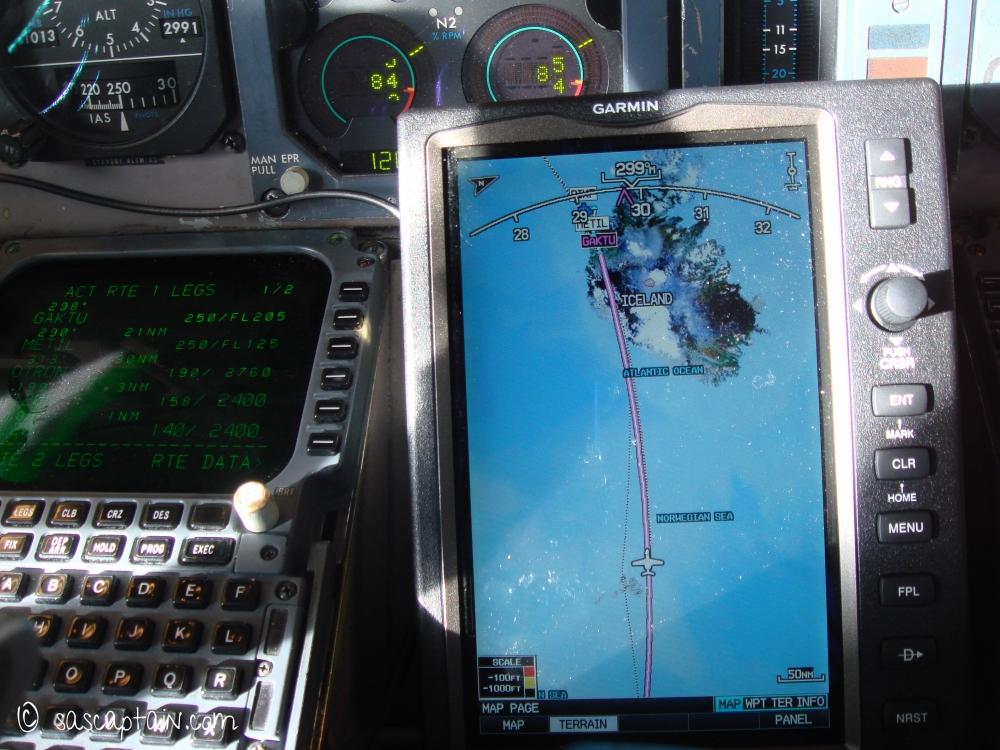 The GPS kept us updated - Inbound GAKTU, Iceland.